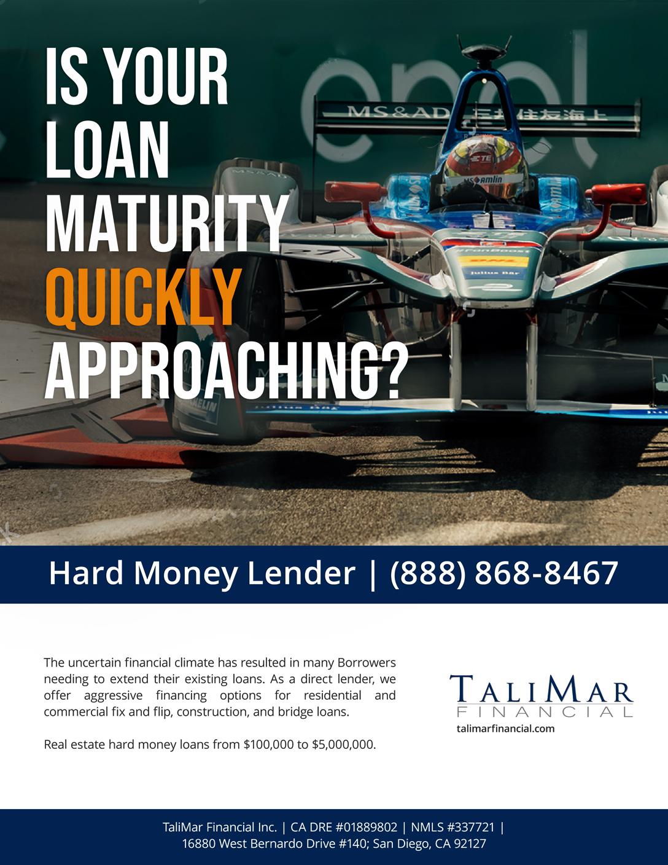 Hard Money Loan Maturing