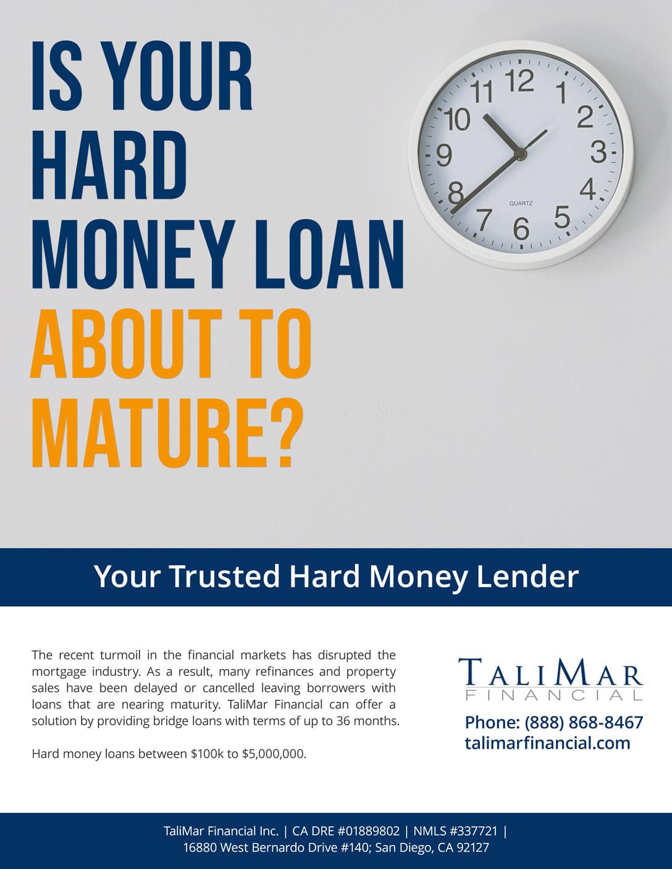 Hard money lenders Advertisement Maturity